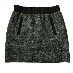 LOFT Small Petite Tweed Elastic Waist Mini Skirt